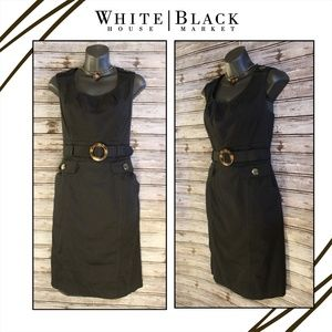 Belted Pencil Dress by White House Black Market